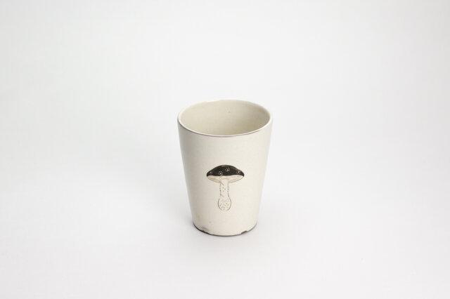 粉引フリーカップ(黒キノコ)の画像1枚目