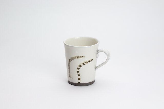 粉引コーヒーカップ(チンアナゴ)の画像1枚目