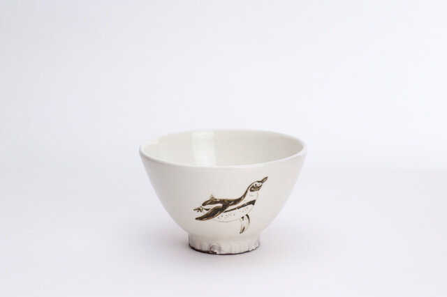 粉引茶碗(フンボルトペンギン)の画像1枚目