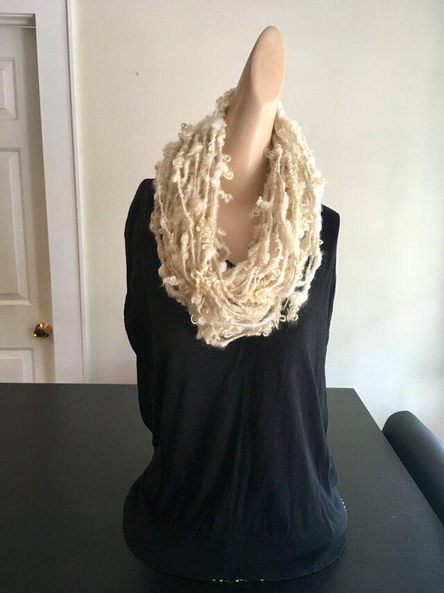 Art yarn necklace scarf アートヤーン・ネックレス スカーフの画像1枚目