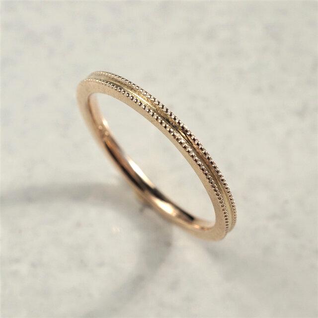 Double milgrain ring {R072K10}の画像1枚目