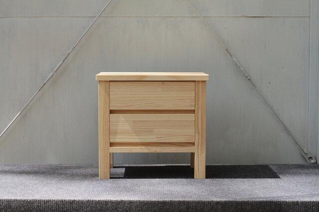 オーダーメイド 職人手作り 北欧モダン ヴィンテージ風 サイドテーブル プリンター台 天然木 木目 サイズオーダー可の画像1枚目