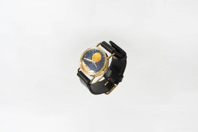 夜空と満月の、腕時計の画像1枚目