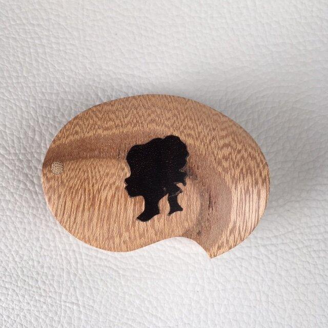 木象嵌小箱 女性1034の画像1枚目