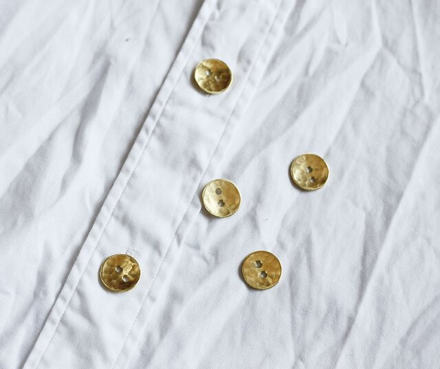 満月ボタン(真鍮製ボタン)11mm 5個セットの画像1枚目