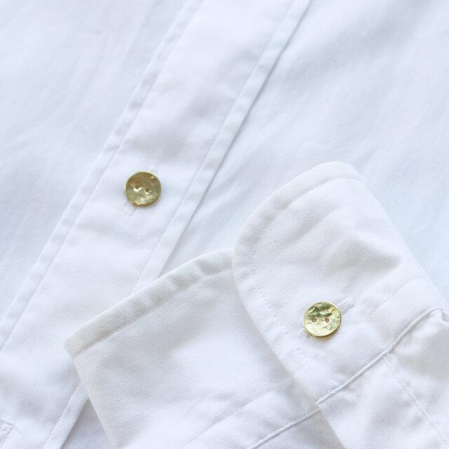 満月ボタン(真鍮製ボタン)11mm 5個セット きらきらの画像1枚目