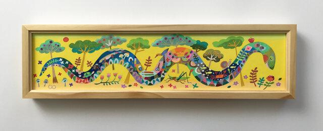 色鉛筆作品「ゆっくりゆっくり」の画像1枚目
