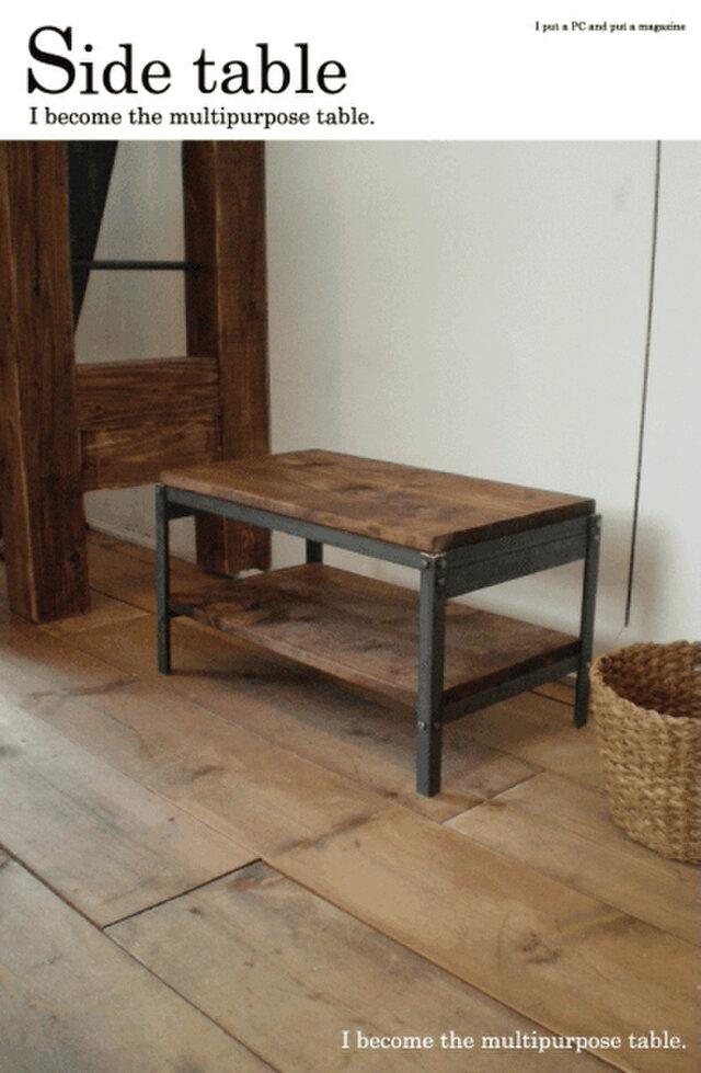数量限定 アイアン サイドテーブル 棚 椅子 テーブル チェアー イス ワークデスク コーヒーテーブル ベンチの画像1枚目