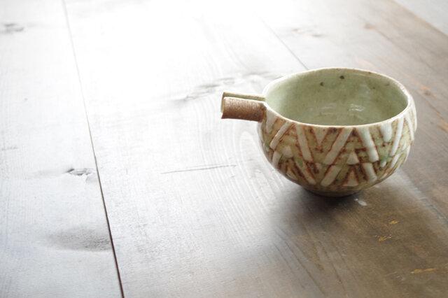 釉彩片口鉢(三角模様)の画像1枚目