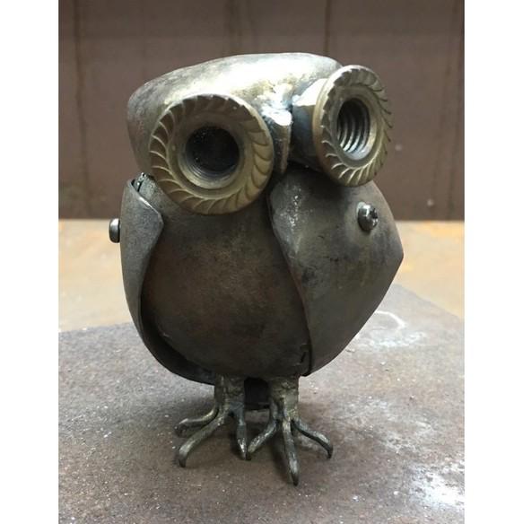 ●鉄でできたぬいぐるみ テツグルミ 「 鉄フクロウ 」の画像1枚目
