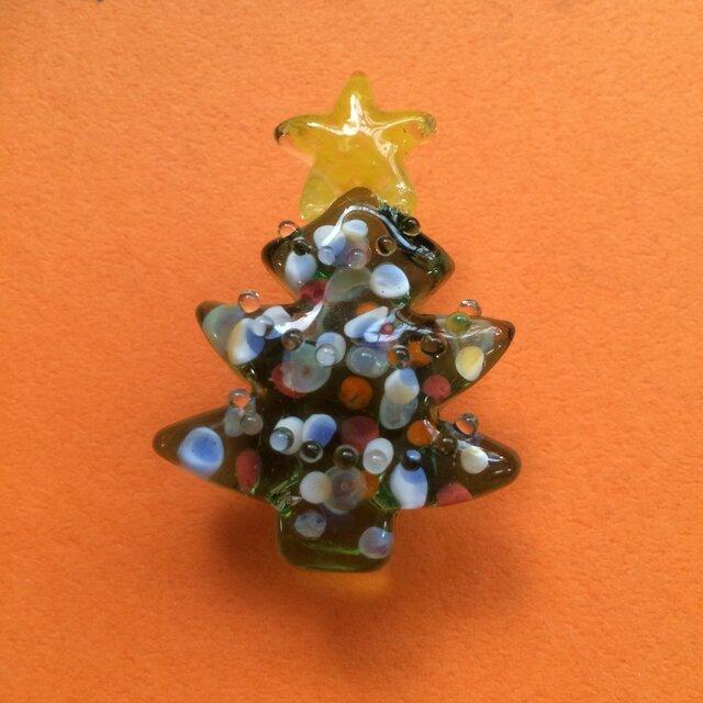 クリスマスツリーの帯留の画像1枚目