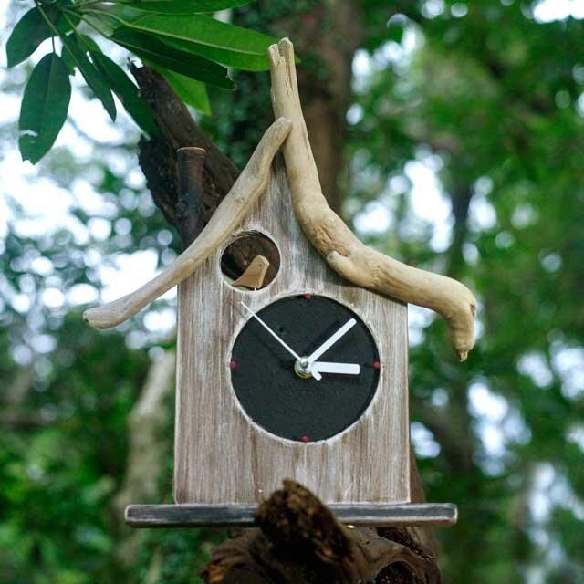 【送料無料】とりっこハウス壁掛け時計、置き時計-15の画像1枚目