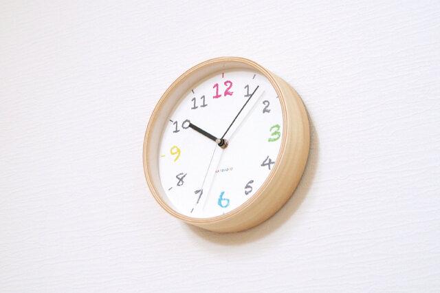 KATOMOKU plywood wall clock 14 ナチュラル 電波時計 連続秒針 km-85NRCの画像1枚目