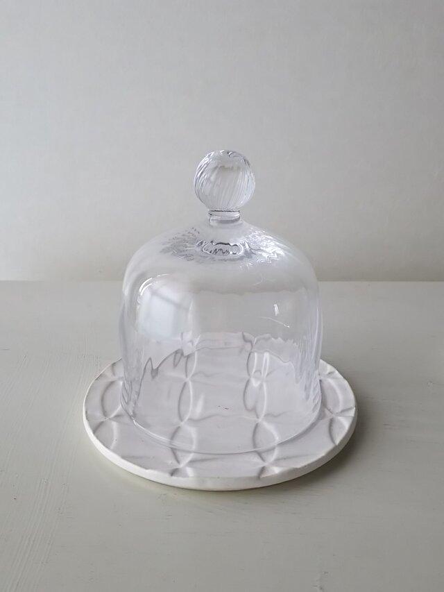 antiqueシリーズ/丸皿SS&ミニガラスドームセットの画像1枚目