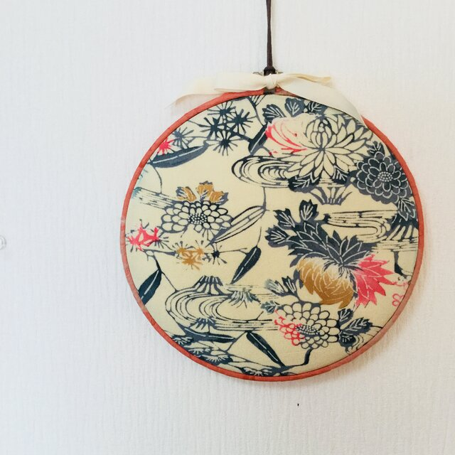 丸い壁飾り–桜の画像1枚目