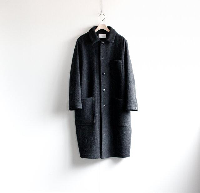 Lomond stand fall collar coat/ チャコールグレーの画像1枚目