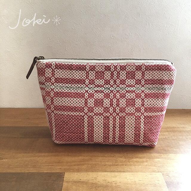 pouch[手織りポーチ]  レッドの画像1枚目