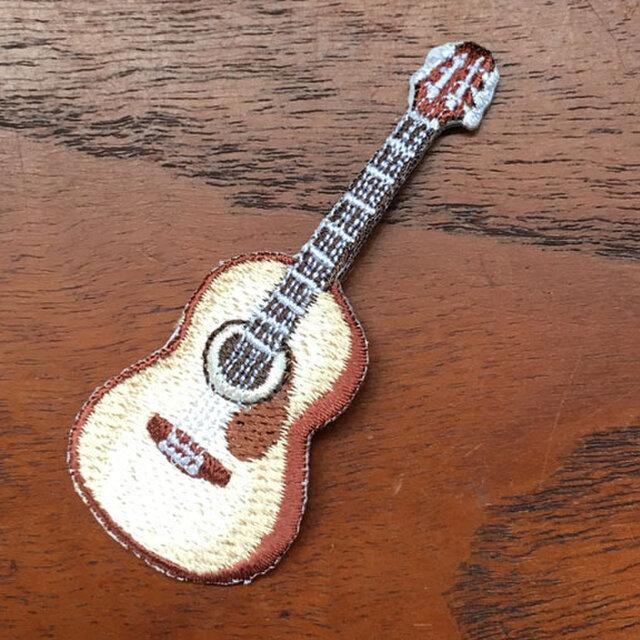 アップリケワッペン-アコースティックギター W-1217の画像1枚目