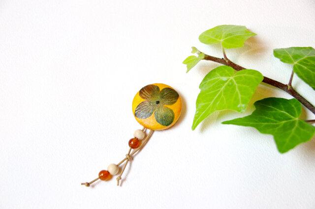 【和紙貼り絵ペンダント】-柿の画像1枚目