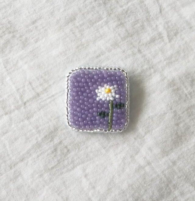 1輪の花 しかくタイプ ブローチの画像1枚目