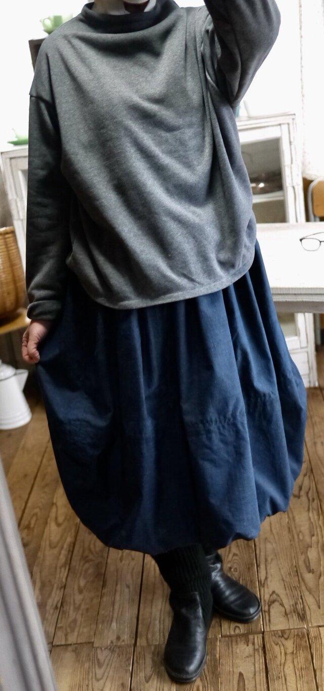 正絹100反物からバルーンスカートの画像1枚目