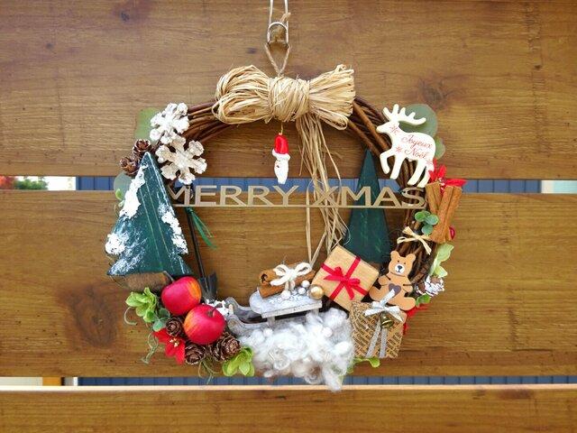 クリスマスリース*santaの画像1枚目