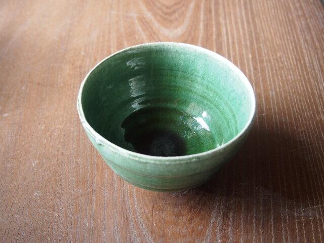 激渋い兎目天目織部茶碗の画像1枚目