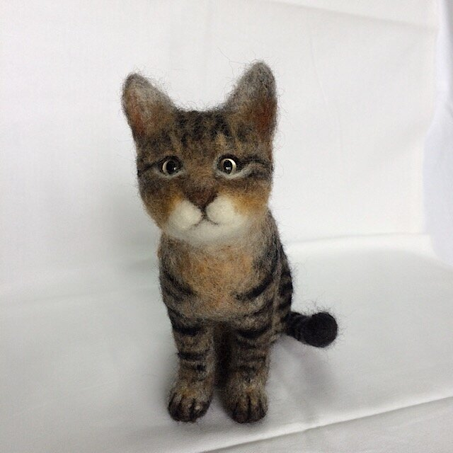 受注制作 羊毛フェルト猫の画像1枚目