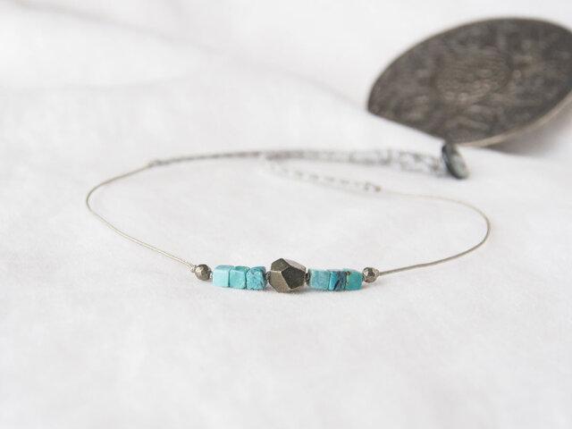 Antico Bleu(short necklace)の画像1枚目