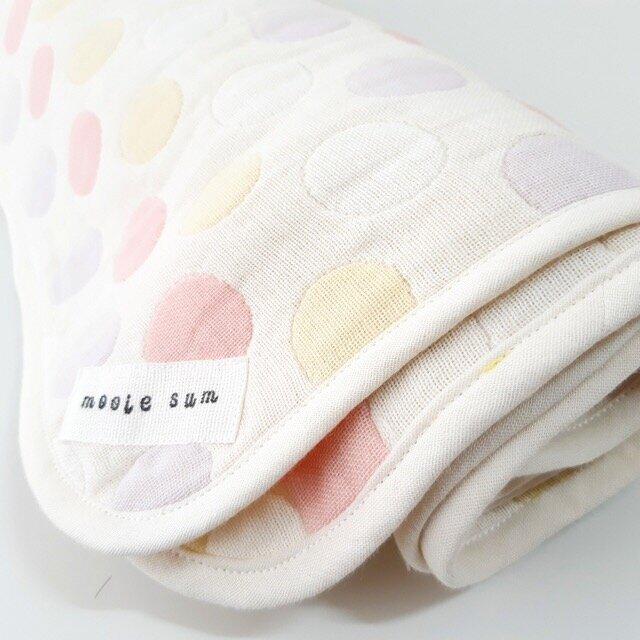 みずたま◍織り模様6重ガーゼのおくるみの画像1枚目