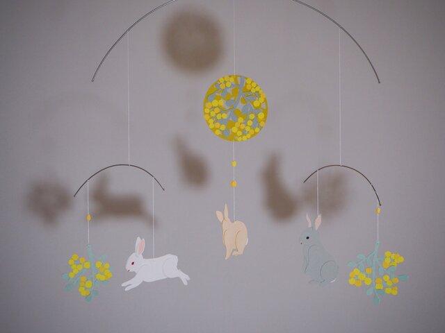 モビール*ウサギ・みもざの画像1枚目
