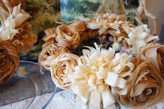 カンナのお花のリース *受注製作*の画像1枚目
