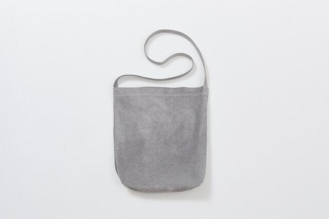 レザー ショルダーバッグ M グレー | メンズ レディース 豚革 クラッチバッグ 2WAY プレゼントの画像1枚目