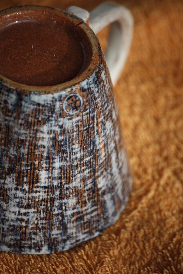 裂織り模様のカップの画像1枚目