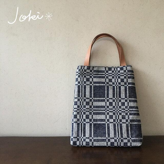 [再販]  bag[手織りAライン手提げバッグ]ネイビーの画像1枚目