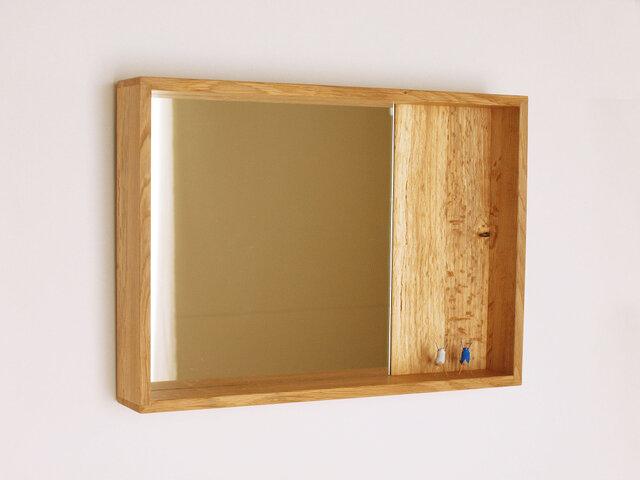 木製 箱鏡 楢材5の画像1枚目