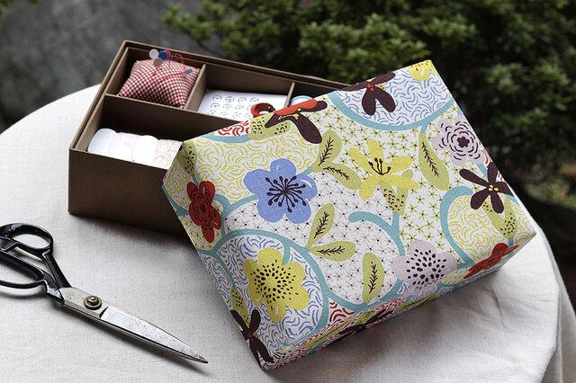 洋風花の裁縫箱の画像1枚目