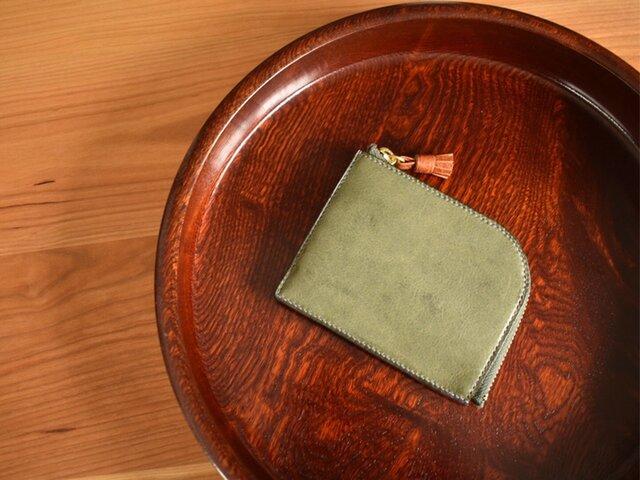 スマートに持ち歩く、Lファスナー財布 イタリアンレザー総手縫いの画像1枚目