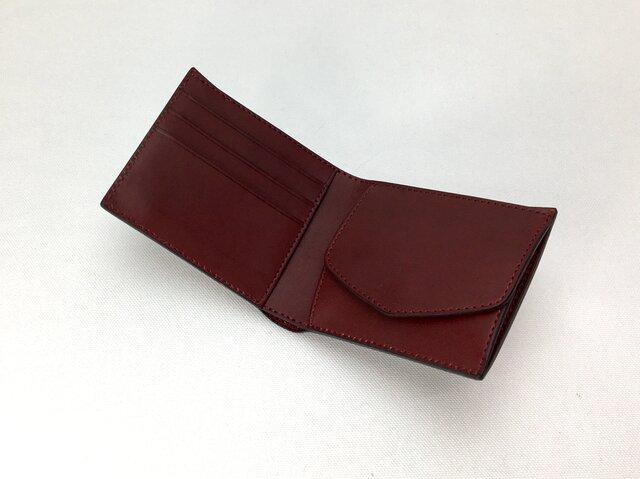 二つ折り財布 hako Wineの画像1枚目