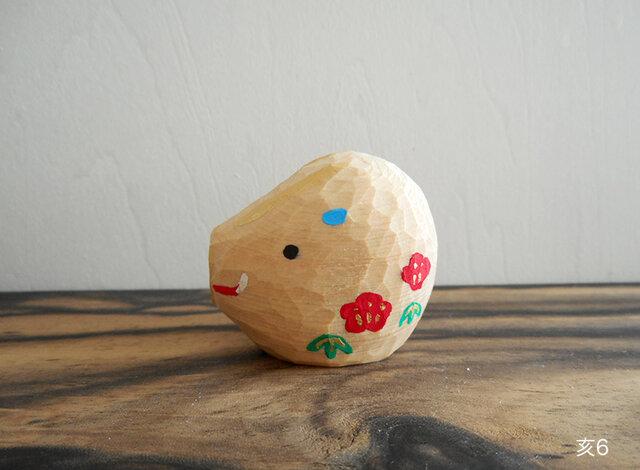 木彫り 亥6の画像1枚目