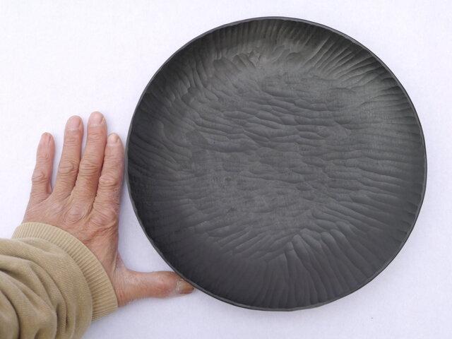 丸皿270 黒 #0195の画像1枚目