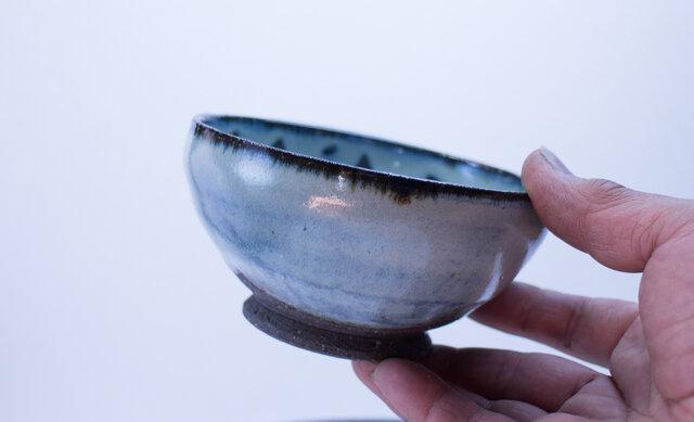 碧雪窯変 もっこり丸飯碗の画像1枚目