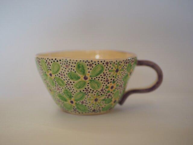 花柄のマグカップの画像1枚目