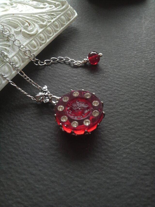 ヴィンテージ Roman-Knight/Ruby rhinestones ネックレスの画像1枚目