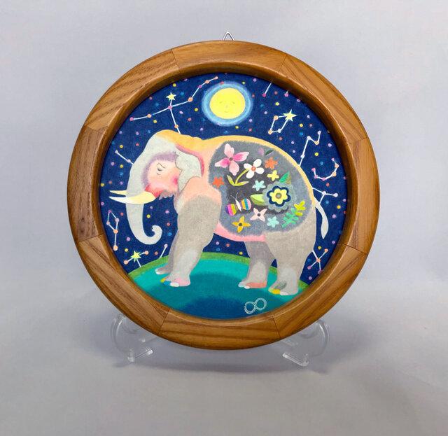 色鉛筆作品「おやすみ、お月さま」の画像1枚目