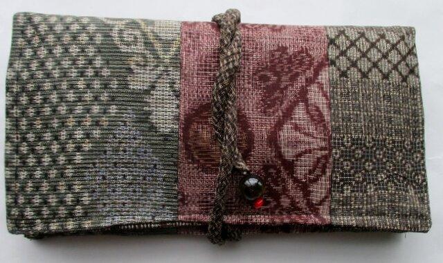 送料無料 大島紬で作った和風財布・ポーチ 3978の画像1枚目