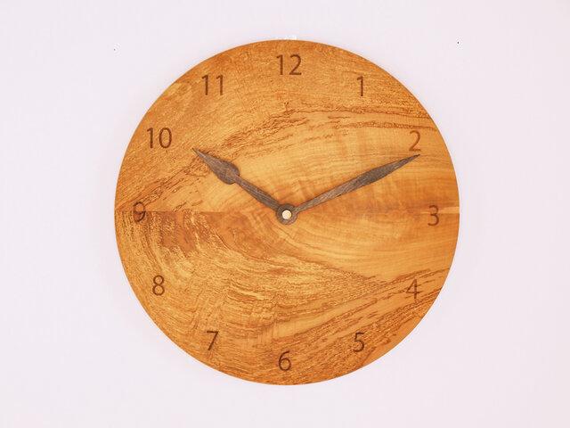 木製 掛け時計 丸型 桜材11の画像1枚目