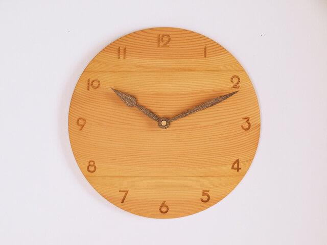 木製 掛け時計 丸型 松材3の画像1枚目
