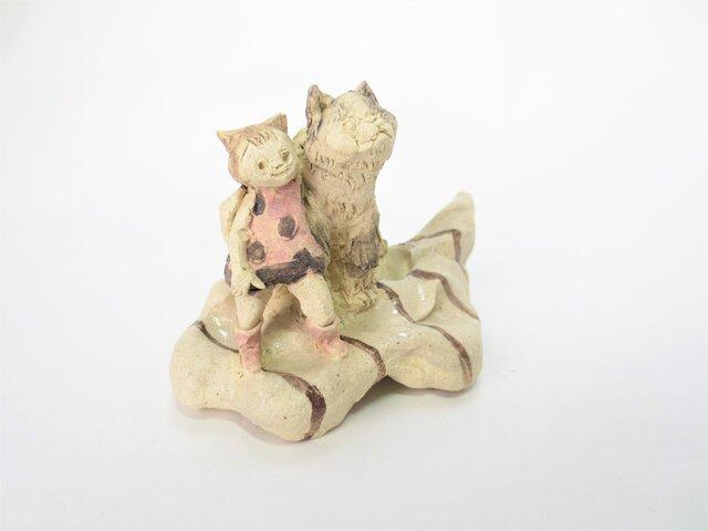 ネコと天使 -グレー-の画像1枚目