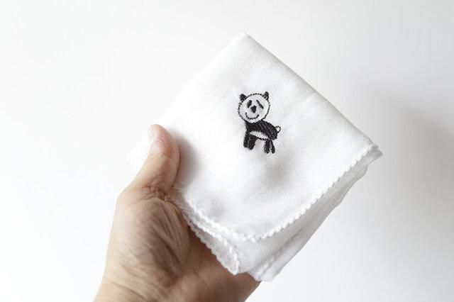 ガーゼハンカチ(パンダ)の画像1枚目